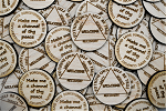 Wooden Alcoholics Anonymous Welcome Token